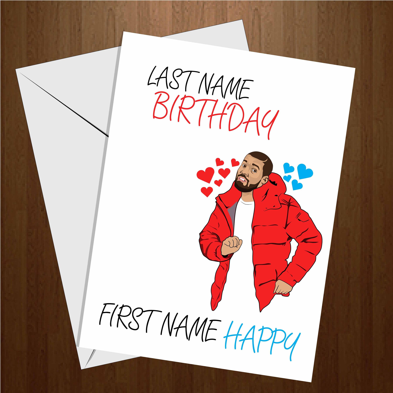 Last name birthday first name happy birthday card drake description drake happy birthday card kristyandbryce Gallery