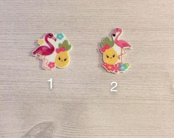 Flamingo and emoji resin! Have 25 of each
