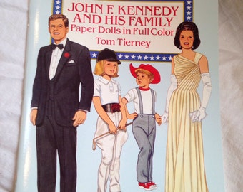 John F. Kennedy and his Family Paper Doll Book Tom Tierney