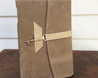 Leather Journal Taupe Leather Journal -LG
