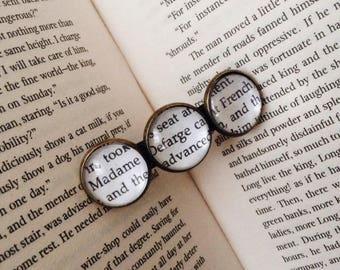 Customizable A Tale Of Two Cities book page hair clip