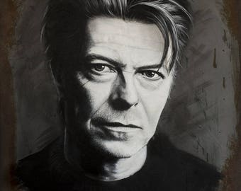 Fine Art Poster Print: David Bowie #2 - art print - printed art - wall art - music - musician