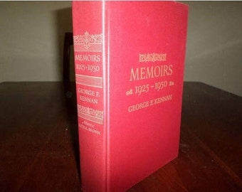 Vintage 1967 Hardcover Book Memoirs George Kennan 1925-1950 Red Hardcover Excellent Condition