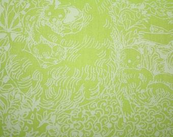 "Vintage~Key West Hand Print~Lilly Pulitzer~ fabric~ ""GATLIN BEARS by ZUZEK~100%  cotton~ 12"" x 12"""