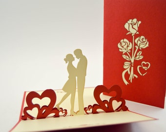3d pop up cards etsy