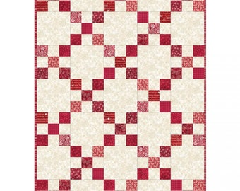 PODS Irish Chain Quilt Kit in Red from Maywood by the kit