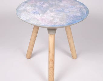 Moon Collection | Side Table in Dawn, Full Moon, Pink Moon, Blue Moon, Moon Decor, Moon Furniture, Solar Eclipse, Lunar, Luna, End Table