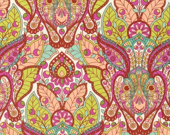 The Hare - Slow & Steady - Tulla Pink in Orange Crush PWTP084 100% Quilters Cotton - You Choose the Length