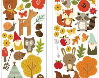 Accent Stickers - Woodland Forest Stickers - Woodland Forest Accent Stickers - Fall Accent Stickers - Fall Stickers - Scrapbook Stickers