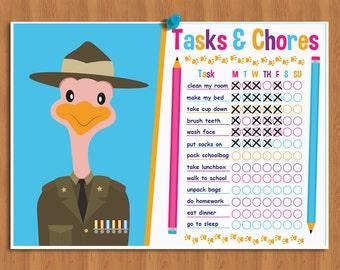 Reward Chart for Kids, Editable Chore Chart for Kids, To do list, Habit Tracker, Printable Planner, Routine, Kids Chore Charts, Task Chart