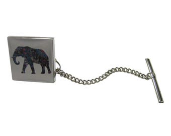 Colorful Elephant Tie Tack