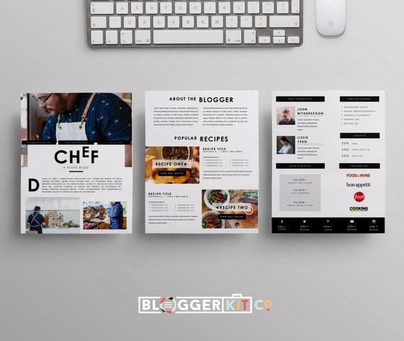Three-Page Media Kit Template Press Kit Template
