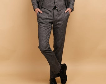 Mens tweed wool pants