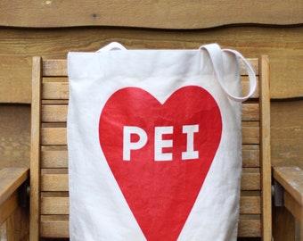 PEI Heart Oversized Tote Bag