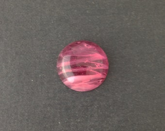 Vintage Pink and White Swirled Glass Cabochons Japan 18mm (2) cab099E