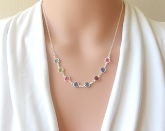 Mothers day gift custom necklace for mom custom initial mothers necklace personalized birthstone necklace grandma necklace family necklace birthstone necklace personalized grandma gift mom jewelry aloadofball Gallery