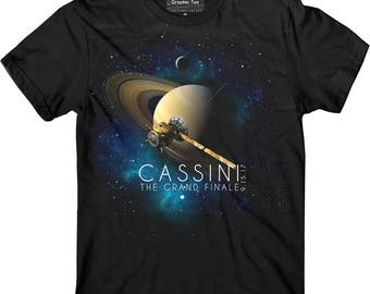 Cassini t-shirt, NASA t-shirt, The Grand Finale t-shirt, Saturn, Space, Huygens