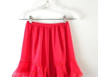 Vintage Panties | 1950s Charmode Red Tricot Nylon Panties M