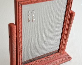 Foto da tavolo Vintage rosso telaio orecchino organizzatore titolare