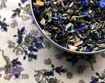 LEMON LAVENDER GREY Tea Blend, Organic Loose Tea, Loose Tea, Organic Earl Grey, Earl Grey Tea, Organic Tea, Lemon Tea, Lavender Tea