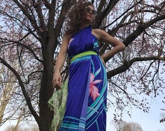 1970's Hawaiian Sarong / Wrap Dress