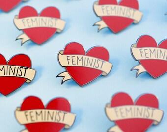 Feminist Heart Hard Enamel Lapel Pin