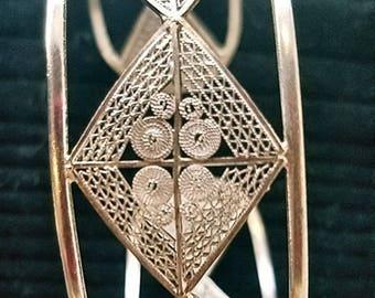 Bracelet Cuff Filigree 975 Sterling Silver