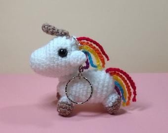 Unicorn Keychain, amigurumi