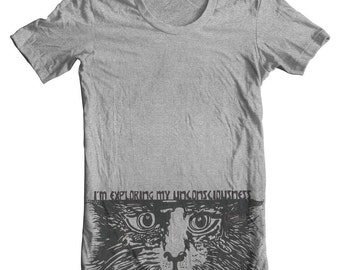 Cat Shirt The unconscious mind shirt Funny tee Cat tshirts, Love Cats