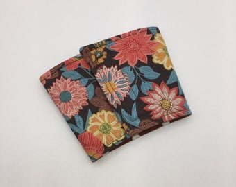 Floral Coffee Cup Cozy, Coffee Cup Sleeve, Cup Cozy, Cup Sleeve, Reusable Coffee Sleeve