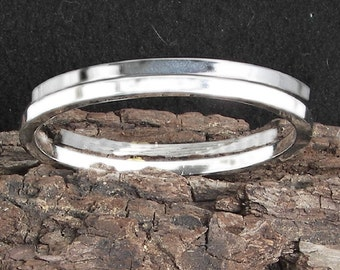 TWO Wedding bands in argentium sterling silver