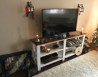 Rustic Farmhouse TV Stand/Side Table