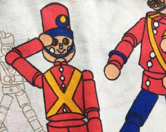 Toy Soldier Cotton Fabric Charming Children's Home Decor Fabric