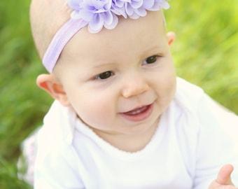 Baby headbands, headband, Flower headband, Pearl headband, Easter Headband, baby girl headband, custom headband, lavender, purple headband