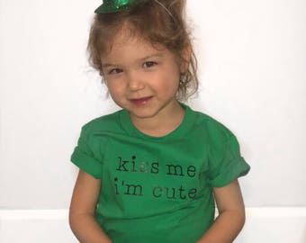 Kiss Me I'm Cute! Infant & Toddler Tees
