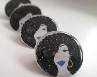 Black Girl Magic (1 inch pin)