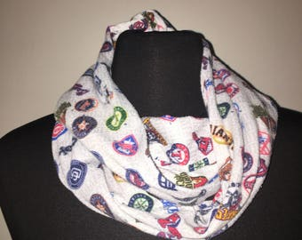Repurposed/Up-cycled MLB Teams Infinity Scarf (YOUTH)