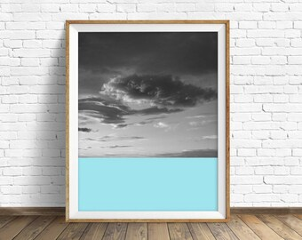 """black and white, abstract photography, large colorful wall art, instant download printable art, large art, wall art prints- """"Skyscape No. 2"""""""