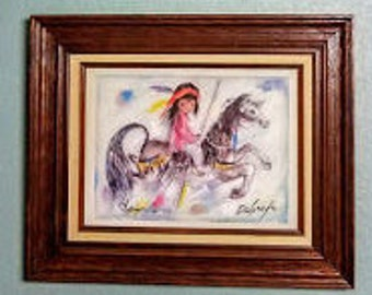 Signed by DeGrazia - Merry Little Indian