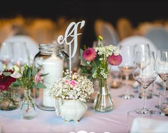 Set of 16 - Wedding Table Numbers in German - Set of 1-16 - Gold Garden Line - Laser Cut Table Numbers in German