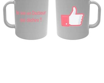 Cup mug I'm a doctor who rocks! Rose