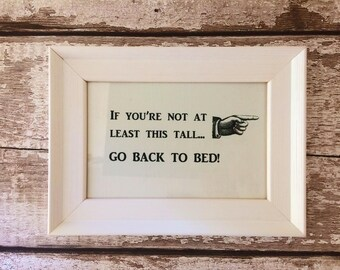 Funny Sign for Parents, in White Frame