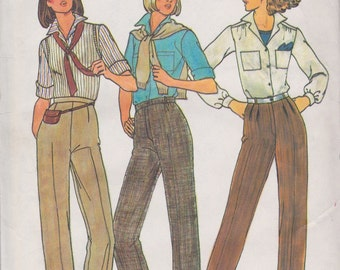 Butterick 6316 Misses' Pants Size 16 Vintage UNCUT Pattern Straight Legged Pants Rare and OOP
