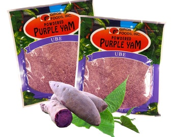 Purple Yam Ube Powder by Giron Foods 4.06 Oz.(Pack of 2)