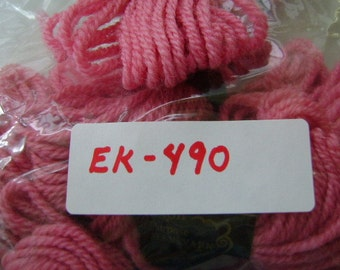 Yarn, Paragon, 100% Wool Crewel Needlepoint, Color #461 Rose Pink, 8.8 Yards