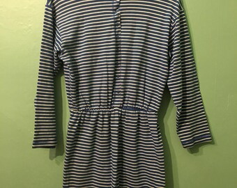 Winona dress- blue striped dress