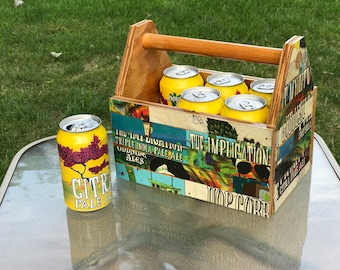 OddSide Ales Wooden Can Caddy