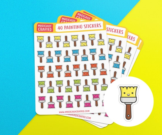 Painting Planner Stickers, Decorating Stickers, Planning Decorating, House  Renovation Planner Stickers, Stickers for Planner, Erin Condren