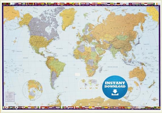 Digital modern political world map printable download large digital modern political world map printable download large world map digital printable map high resolution world map usanadarmany gumiabroncs Images