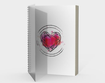 Ruby Notebook - Note Taking - Sketching - Drawing - Sprial Notebook